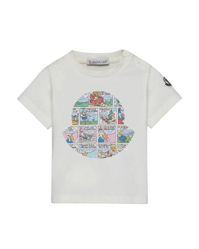 Maglia Comic-Print T-Shirt, Off White, Size 12M-3Y