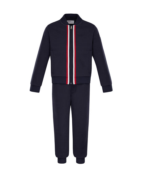 Moncler Zip-Up Cardigan w/ Joggers, Size 8-14