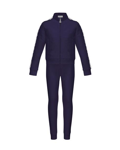 Terri Lace-Trim Jacket w/ Joggers, Size 8-14