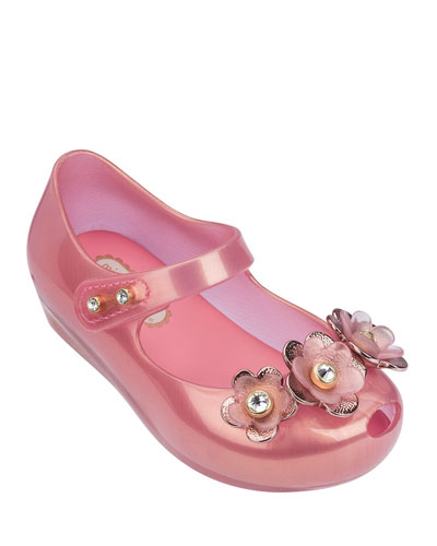 Ultragirl Flower Mary Jane Flat, Toddler Sizes 5-10
