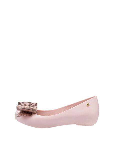Ultragirl Glittered-Bow Ballet Flat, Toddler/Youth Sizes 11T-4Y