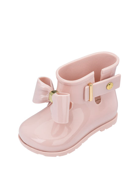 Mini Melissa Sugar Bow Rainboot, Toddler Sizes 5-10