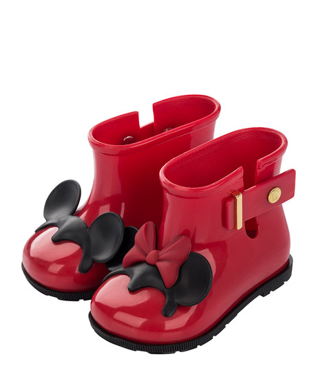 Mini Melissa Girls' Mini Sugar Disney Rainboot