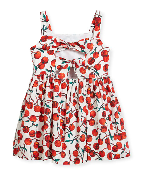 Emaline Cherry-Print Dress, Size 8-16
