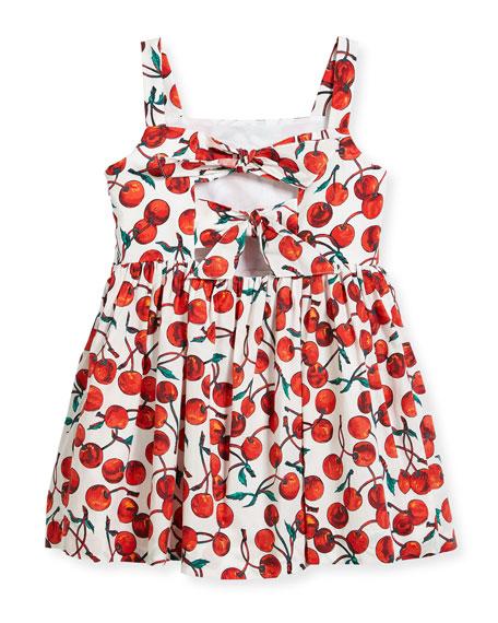 Emaline Cherry-Print Dress, Size 4-7