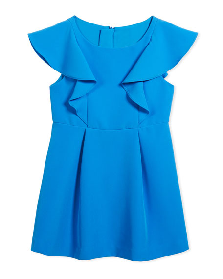 Milly Minis Cady Ruffle Dress, Size 8-16