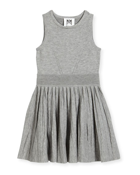 Knit Pleated Flare Dress, Size 8-14