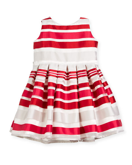 Helena Satin Stripe Dress, Size 12-18 Months