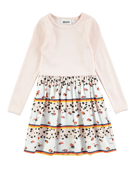 Credence Be My Ladybird Long-Sleeve Dress, Size 2T-10