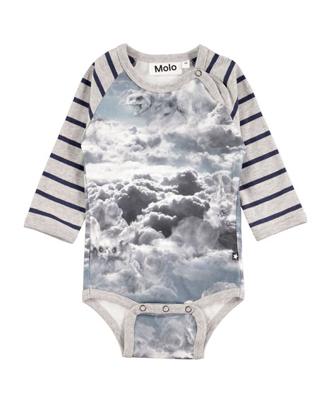 Molo Floyd Cloud Figures Printed Bodysuit, Size 3-12