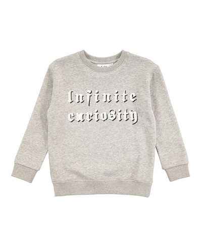 Mogens Melange Infinite Curiosity Sweatshirt, Size 4-10