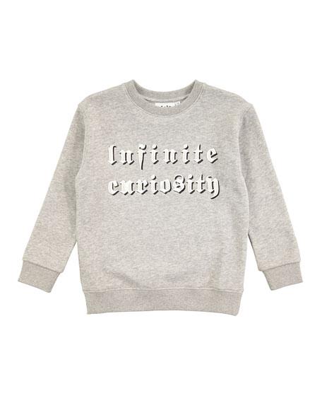 Molo Mogens Melange Infinite Curiosity Sweatshirt, Size 4-10