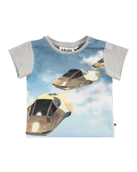 Molo Eddie Hover Cars Printed T-Shirt, Size 6-24