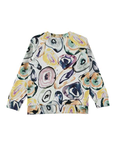 Marina Mineral Stones Printed Sweatshirt, Size 4-14