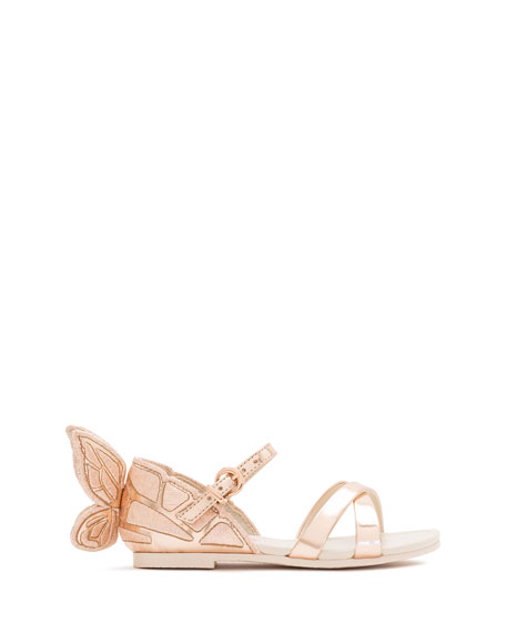 Chiara Metallic Butterfly Sandal, Toddler/Youth Sizes 5T-3Y