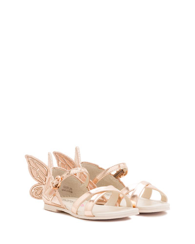 Chiara Metallic Butterfly Sandal, Toddler/Youth Sizes 5T-3Y