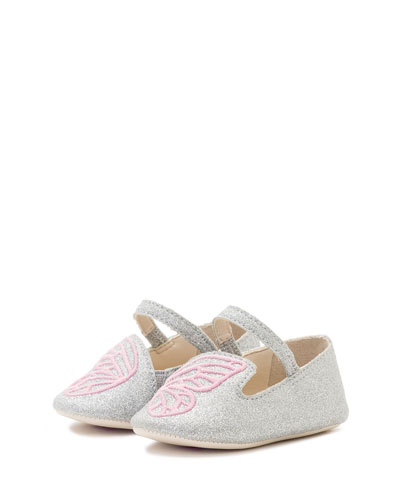 Bibi Butterfly Glittered Flat, Infant