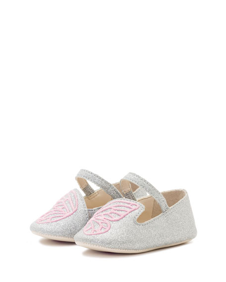 Sophia Webster Bibi Butterfly Glittered Flat, Infant Sizes