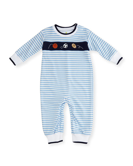Florence Eiseman Striped Knit Sport Balls Coverall, Size