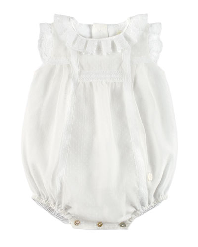 Sleeveless Ruffle Romper, White, Size 3-18 Months