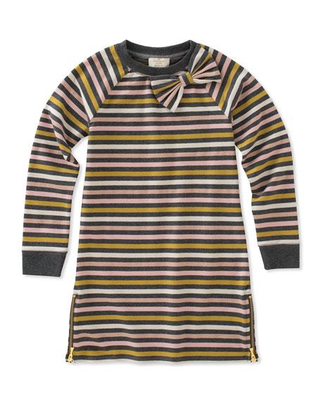 kate spade new york metallic stripe dress w/