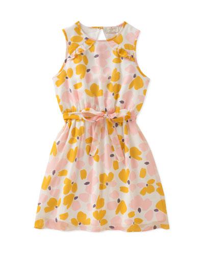 floral-print ruffle dress, size 7-14