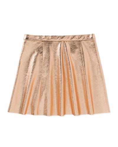 metallic skirt, pink, size 7-14