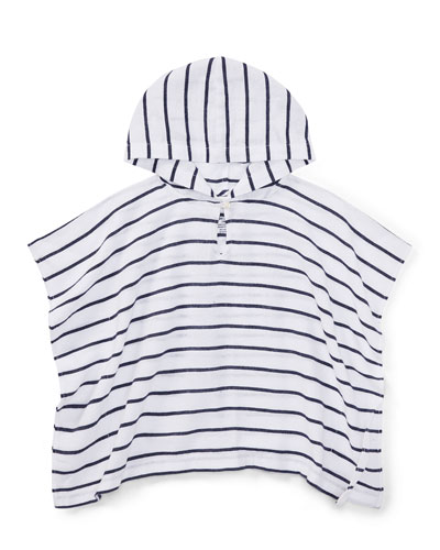 Cotton Gauze Stripe Swim Coverup, Size 9-24 Months