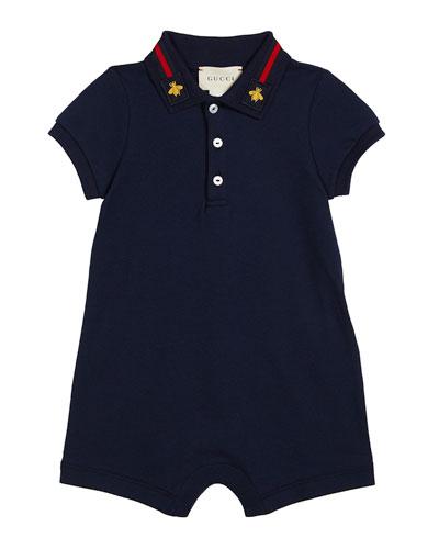 Web-Trim Polo Shortall, Size 3-18 Months