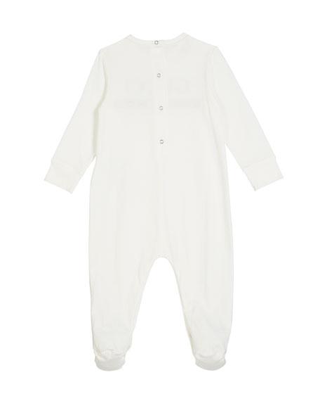 Long-Sleeve Logo Footie Pajamas, Size 0-9 Months