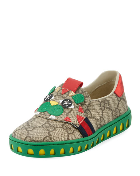 Gucci GG Supreme Canvas Sneaker w/ Tiger Face,