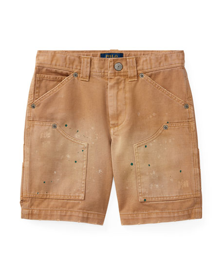 Ralph Lauren Childrenswear Montauk Chino Carpenter Paint-Splatter
