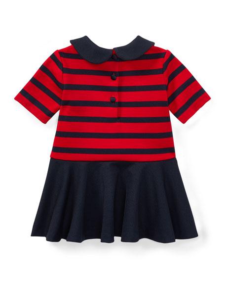 Roma Ponte Stripe Dress w/ Bloomers, Size 9-24 Months