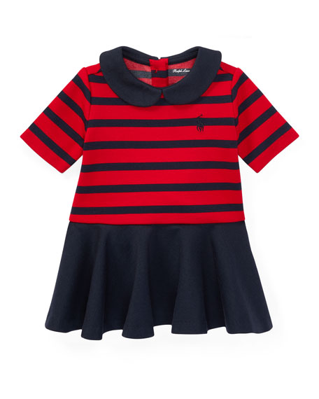 Ralph Lauren Childrenswear Roma Ponte Stripe Dress w/