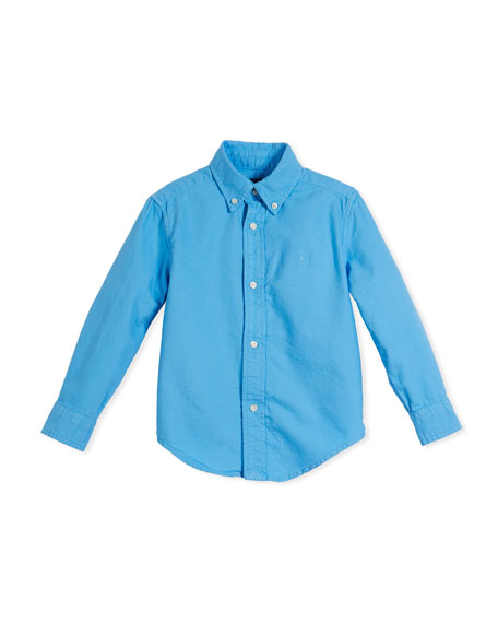 Ralph Lauren Childrenswear Garment-Dye Oxford Button-Down Shirt,