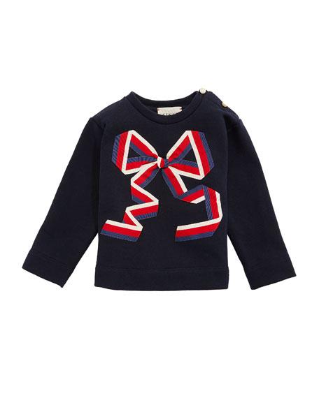 Sylvie Web Bow Sweatshirt, Size 3-36 Months
