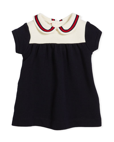 Peter Pan Web Collar Dress, Size 3-36 Months
