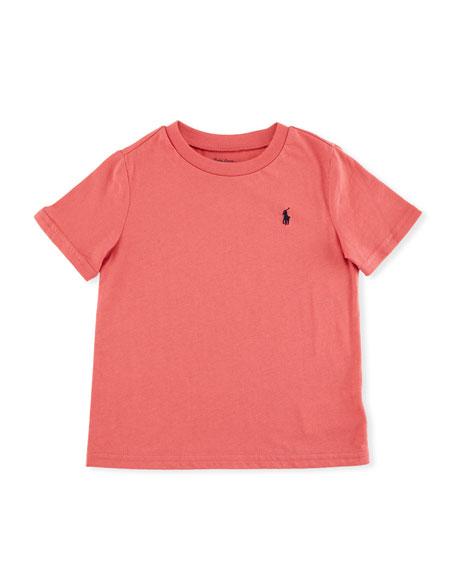 Short-Sleeve Jersey T-Shirt, Red, Size 9-24 Months