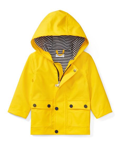 Ralph Lauren Childrenswear Hooded Raincoat, Yellow, Size 9-24