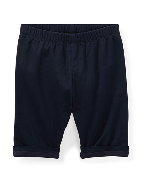 Ralph Lauren Childrenswear Bedford Pull-On Cotton Pants, Blue,
