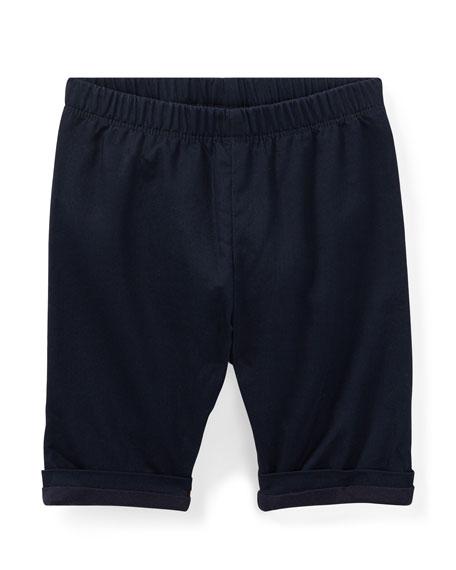 Ralph Lauren Childrenswear Bedford Pull-On Cotton Pants, Blue,