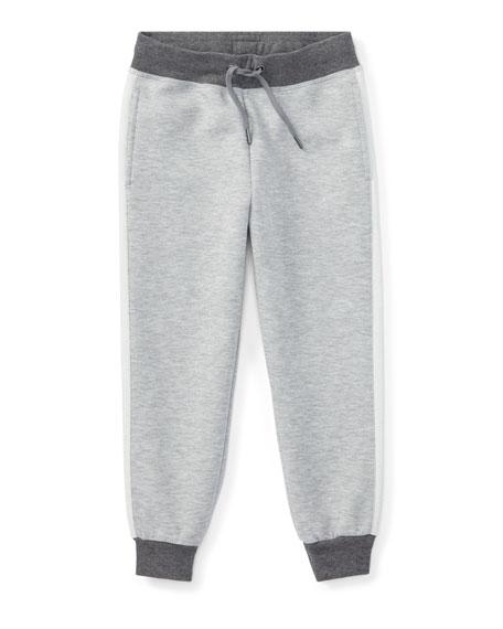 Ralph Lauren Childrenswear Double-Knit Colorblock Tech Pants,