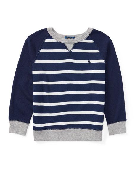 Ralph Lauren Childrenswear Spa Terry Stripe Knit Sweater,