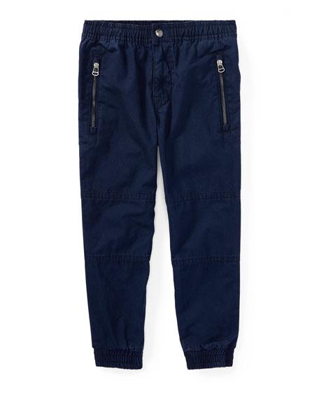 Ralph Lauren Childrenswear Cotton Poplin Jogger Pants, Blue,