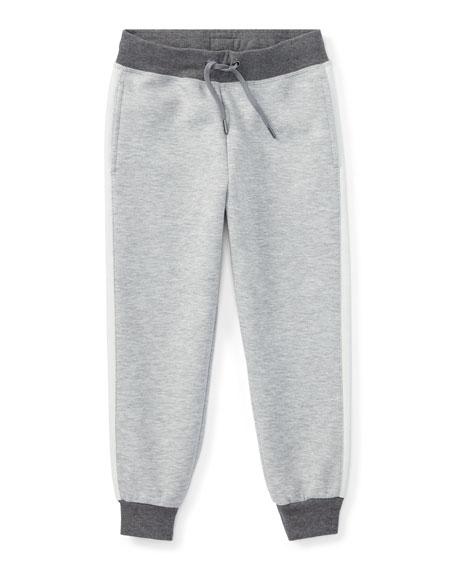 Ralph Lauren Childrenswear Double-Knit Tech Jogger Pants, Gray,