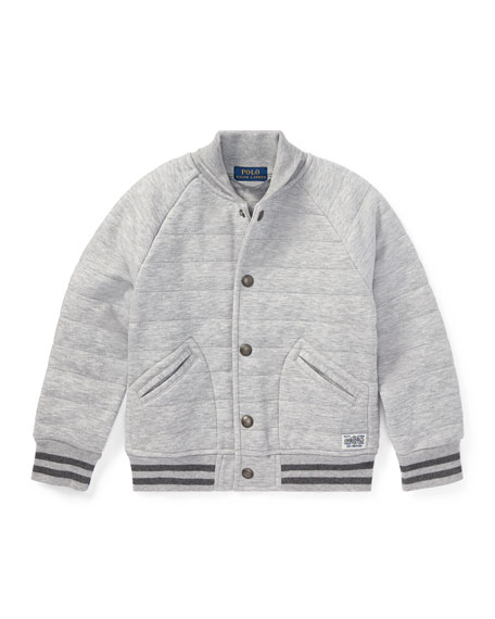 Ralph Lauren Childrenswear Double Knit Tech Baseball Jacket,