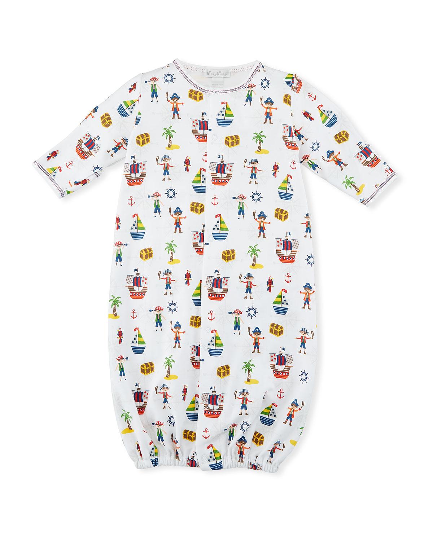 Kissy Kissy Buccaneers Print Convertible Sleep Gown, Size Newborn ...