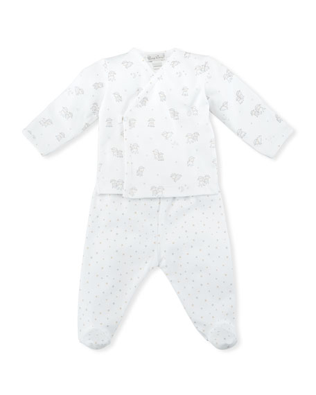 Sweetest Dreams Footed Playsuit Set, Size Newborn-9M