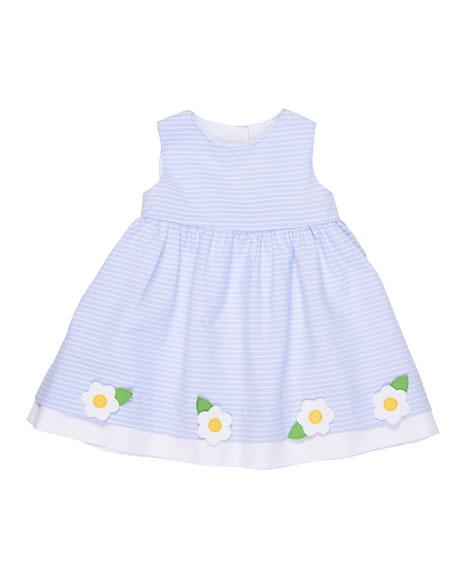 Stripe Sleeveless Dress w/ Flowers, Size 3-24 Months