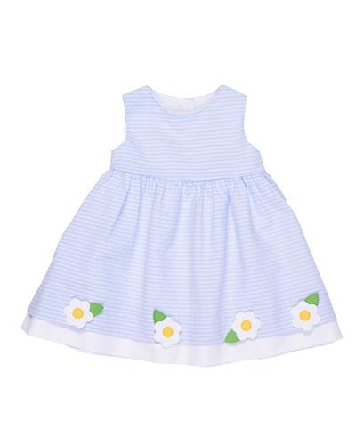 Stripe Sleeveless Dress w/ Flowers, Size 2-6X